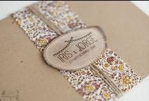 Stationery / Tarjetería o papelería de la boda