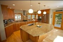 Lake Michigan Home Renovation in Grand Haven / This is a custom built home by Pushaw Builders. It is located in Grand Haven, Michigan and features an open floor plan with sweeping views of Lake Michigan.