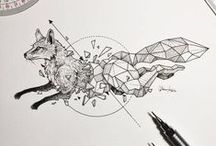 "Kerby Rosanes || Sketchies Stories: Geometric Beasts / ""Personal series of illustrations I'm currently developing during my spare time in between projects. Each piece is my take on breaking away from societal norms and just be who we truly are as individuals.""  ON WEB: http://kerbyrosanes.com/ 