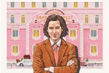 "Mark Dingo || Wes Anderson Postcards / ""A personal project inspired by Wes Anderson's eight feature films. Fictional locations from his films were put on postcards to give them the essence of being real travel destinations which one could visit, or send postcards from""  
