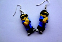 Polimer clay earrings / Gangnam style