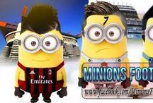 Minions dressed as soccer players