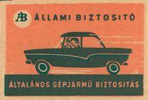 Hungarian matchbox label & calendar card