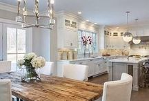 KITCHENS / kitchen, marble, white love