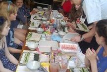 Tootoomoo Parties & Events!  / Kids sushi making parties at TTM and catering for your parties at home.