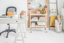 creative spaces / Inspiration for the office, studio and those fun work spaces