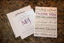 Wedding Stationery / Invitations, Save the Dates, Ceremony Programs, Menus, Thank You cards