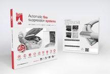 BlazeCut / Proposal website of automatic extinguishing fire system.