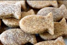 Whole Wheat Dog Treats / Using our own freshly ground wheat, these peanut butter delicacies are the perfect snack for your pup!