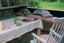 Sleeping Porches, some sitting too! / Outdoor bedrooms, to give your dreams plenty of room to breathe.