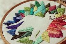 rękodzieło / hand made, emroidery, crochet, knitting