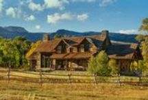 Sawtooth Mountain Ranch / Occasionally a client desires a level of involvement on their project—and in this case, the owner wanted to source his own hewn materials knowing the southeastern part of the United States had historic oak hewn barns available. Collaborating for the perfect combination of style and floor plan, arrangements were made to ship the barns to his property near Yellowstone Park. The two barns were joined by a stone connection that separated the main living areas from the master suite.