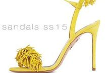 Aquazzura SS15 Sandals / AQUAZZURA Spring Summer 2015 Sandals in Gorgeous Colors & Textures