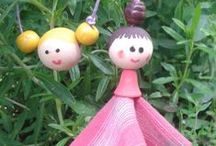 Children craft - gyerekekkel / Children can make them, see the works of my daughter and son!  Gyerekek is el tudják készíteni - ezeket az enyémek csinálták :)