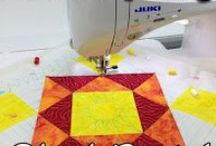 Machine Quilting Block Party / Learn about patchwork and machine quilting in a year long mystery quilt along with Leah Day!