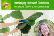 Homekeeping Hacks with Clean Mama / Make sure you join Clean Mama this Sunday, May 22nd from 5pm-7pm EST here for a Homekeeping Hacks Pinterest Party complete with tips and tricks and prizes!