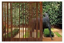 Garden gates, fences & walls / creative designs for fences, garden boundaries & sub-dividing gardens.