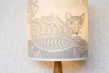 illustrated lighting / A lampshade is a perfect place to illuminate a picture! Here at Radiance we love illustrated lamps and lampshades and have lots of them, by Lush Designs, A Northern Light and others.