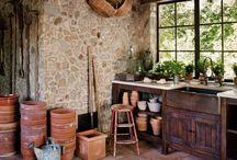 Potting sheds / Perfect spaces for pottering around & growing plants