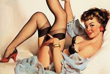 PIN me UP / I love vintage Pin Up art a.k.a. Cheesecake.  It's so interesting how they show the girls doing so many different things while looking sexy without showing a lot of skin.  There were many artists, but I think my favorite is Gil Elvgren. / by Sunny