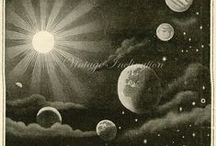 "Astres et Constellations / ""Il est grand temps de rallumer les étoiles"" Guillaume Apollinaire      ""It is high time we lit up the stars again""                            / by kawa cloud"