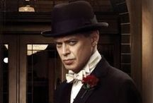 """Boardwalk Empire /  Boardwalk Empire is a period drama focusing on Enoch """"Nucky"""" Thompson (based on the historical Enoch L. Johnson) a political figure who rose to prominence and controlled Atlantic City, New Jersey, during the Prohibition period of the 1920s and 1930s. Nucky acts with historical characters in both his personal and political life, including mobsters, politicians, government agents, and the common folk who look up to him.  / by Eis Versan"""