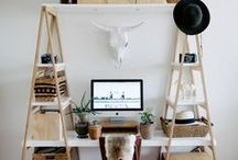 Life : Workspace / Ideas for a creative and modern, home office workspace for your online small business.