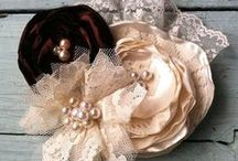 shabby flowers , necklace & brooches