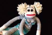 Raq'n Monkeys / It's a whole new fusion - sock monkeys meet belly dance!!  * and a few other things... :(1)  They're not your Grandma's sock monkeys!!!