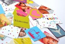 Stickers personnalisés / Personnalisez vos enveloppes avec des stickers assortis à vos faire-part magnet. Tout petit, tout mimi