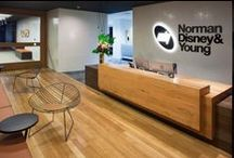 Norman Disney & Young, Perth / Norman Disney & Young, Perth, Western Australia. Award Winning 5-Star Green Star Design by MKDC Workspace Designers.  	  MKDC is an award-winning interior design practice specialising in creating inspirational workspaces for private, commercial, institutional and public sector organisations. http://www.mkdc.com.au/