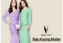 Baju Kurung 2016/2017 by VERCATO.com / VERCATO Designer Collection features contemporary and stunning modern Muslimah baju kurung such as lace kurung, peplum kurung and printed kurung. SHOP> www.vercato.com
