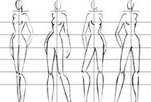 Desenho de Moda [Ref.] / Croqui de Moda, desenhos, poses, tecidos, ideias...