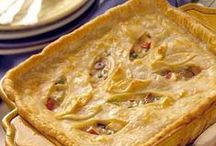 Savory Pies / Pot pies, pizza, quiche, tortes, tarts, hand pies, just a dish with some puff pastry thrown on top can be found here!  I've also included savory souffles and cheesecakes, because I can't for the life of me figure out where else to put them!