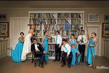 Bridal Party / Wedding inspiration, bride, groom, bridal party