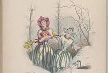 JJ Grandville (Illustrateur) / Jean Ignace Isidore Gérard, né le 13 septembre 1803 à Nancy et mort le 17 mars 1847 à Vanves, est un caricaturiste français, connu sous le pseudonyme de J.J. Grandville ou Jean-Jacques Grandville