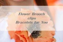 silk flower / brooch, hair clip, hair accessory, flower