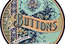 """Plaquettes boutons ... Vintage buttons card / Savez-vous comment s""""appelle un collectionneur de boutons ? un Fibulanophile ..."""