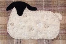 Wool And Silk appliqué / Wool and silk   appliqué and embroidery