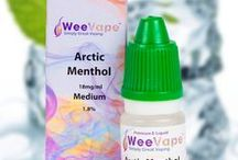 E-liquid flavors from WeeVape / A range of e-liquid flavours from WeeVape. Great products and cool imagery