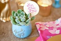 Fabulous Favours / Innovative take-away ideas your guests will be thrilled to take home!