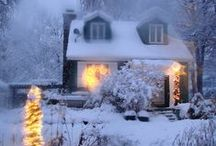 snow and christmas