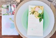 Table Scapes & Place Settings / Share the love with your guests with these stunning table scape and place setting ideas.