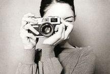 say cheese. / cameras on cameras!