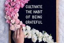 G R A T I T U D E / The Attitude of Gratitude