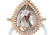 Ring Bling / Size 5.75 to 6, Rose Gold Metal, Low Profile