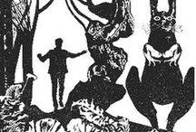 """Игорь Блиох / Иллюстрации Игоря Блиоха к фантастическому роману Александра Ломма """"Дрион Покидает Землю"""" Роман публиковался единственный раз — в газете """"Пионерская правда"""".  Первая часть (до главы """"Человек из серебряного шара"""" включительно) печаталась в №№ 6, 8–9, 11–17, 20–22, 24, 26–27, 29 за 1974 г.  Вторая часть (от главы """"Непоправимая ошибка"""" до конца) — в №№ 82–84, 86–87, 90–93, 96–100, 102 за 1975 и в №№ 2, 4–6 за 1976 г. Настоящее имя Александра Ломма - Вацлав Кличка (Vaclav Klicka)"""
