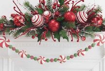 """Deck The Halls...It's Christmas / Ideas for decorating your house, mantels, tables, front door & trees. Also, cards, recipes & packages. Everything to create a stress free holiday & a """"drop-dead gorgeous"""" home, without breaking the bank  / by Dawn McNeal"""