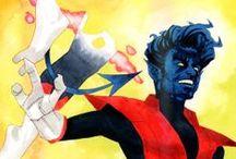 Nightcrawler / Tablica poświęcona Kurtowi Wagnerowi, który zaczął wypierać z niej innych mutantów.