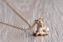 Jewellery / Delicate necklaces and earrings from Pursuits rustic line of products